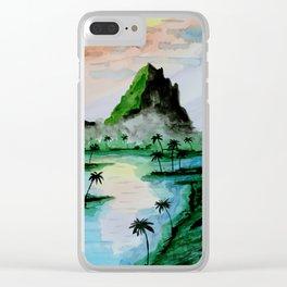 Sumatra Mountains Clear iPhone Case
