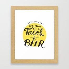 Tacos & Beer Framed Art Print