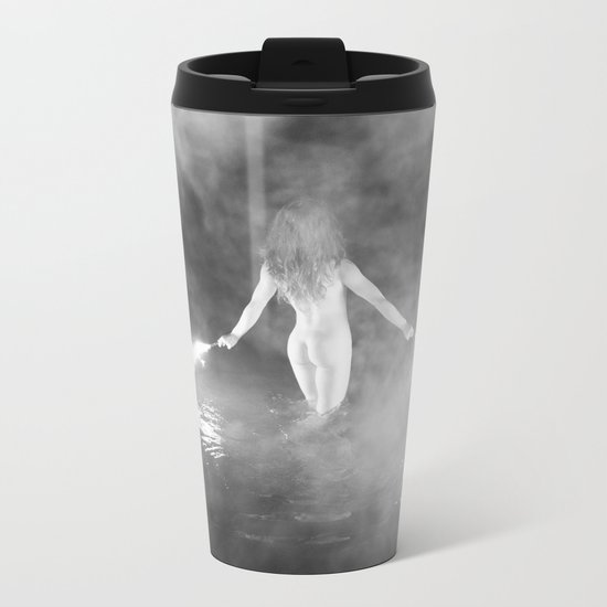Fire Swim With Me Metal Travel Mug