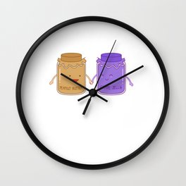 Happy Anniversary Peanut Butter Jelly Couple Sandwich Anniversary Wall Clock