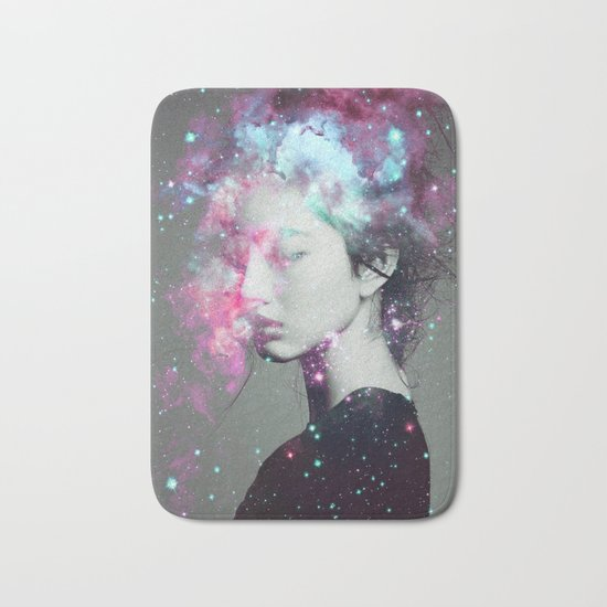 Explosive thoughts Bath Mat
