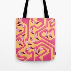 Flamingo Maze Tote Bag