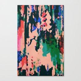 Neon Peach Abstract Canvas Print