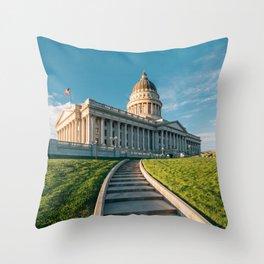 Utah State Capitol 01 Throw Pillow