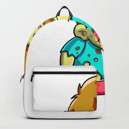 Cute zombie running cartoon Backpack