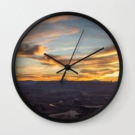 Island in the Sky Sunset II Wall Clock