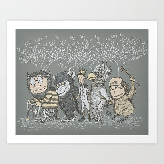 The Mild Rumpus Art Print