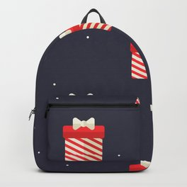 Red Christmas Gift Pattern Backpack