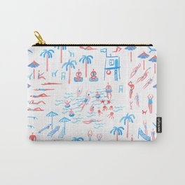 beach club pattern Carry-All Pouch