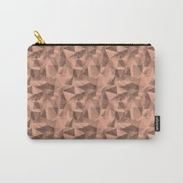 Abstract Geometrical Triangle Patterns 3 Pratt and Lambert Earthen Trail 4-26 Carry-All Pouch