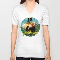 gentleman V-neck T-shirts featuring Gentleman by dogooder