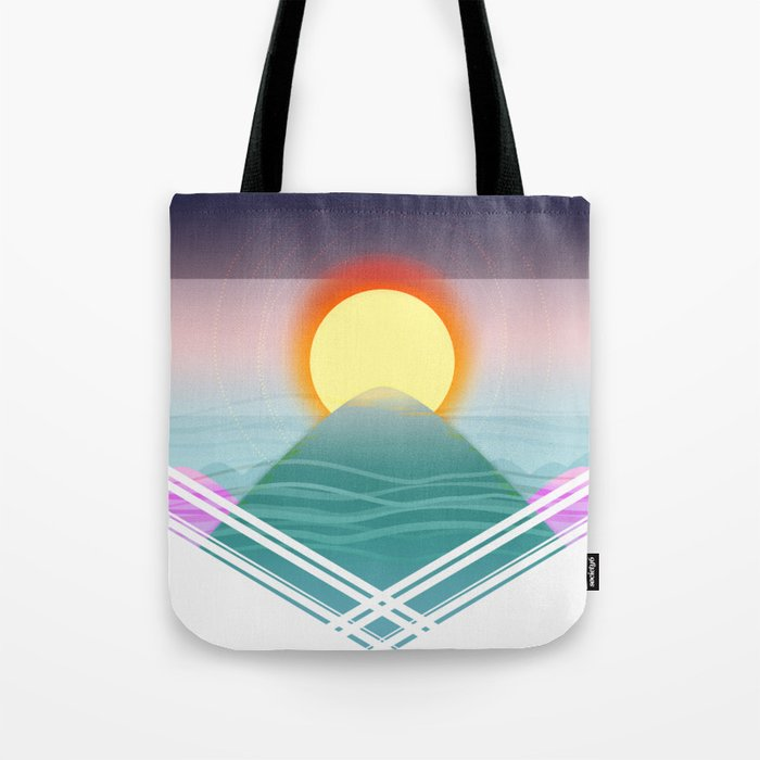 Sunrise Over the Mountaintop (Design Form) Tote Bag