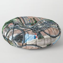 Bicycles in Amsterdam Floor Pillow
