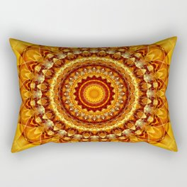 Mandala bright yellow Rectangular Pillow