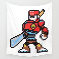 sword Wall Tapestries featuring sword man by Walter Melon