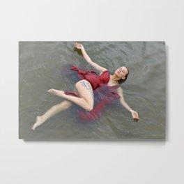swimming girl Metal Print