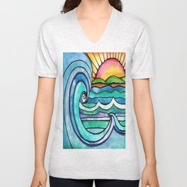 Beachy #society6 #spring #summer Unisex V-Neck