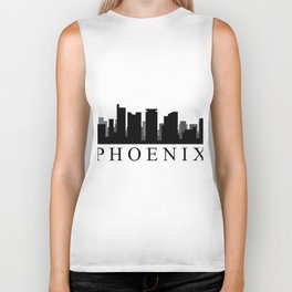 phoenix skyline Biker Tank