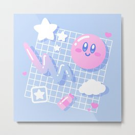 Pink Puff Aesthetic Metal Print