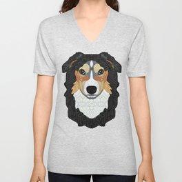 Zeke - mountain dog Unisex V-Neck