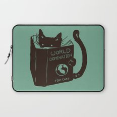 World Domination for Cats (Green) Laptop Sleeve