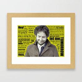 Bob Dylan - Tambourine Bob Framed Art Print