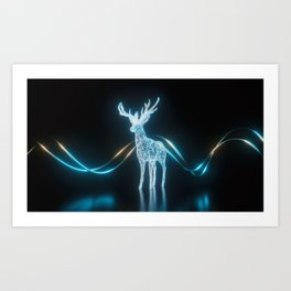 Lighten Deer Art Print
