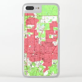 Vintage Map of Gainesville Florida (1966) 2 Clear iPhone Case