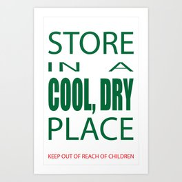 Cool Dry Art Print