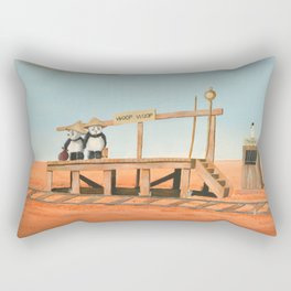Outback Train Station Rectangular Pillow
