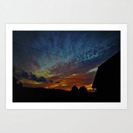 Spectrum Sunset Art Print