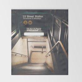 New York City Subway Throw Blanket