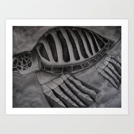 The Amazing Flying Turtle Machine Art Print