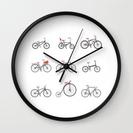 Know Your Bicycles Wall Clock