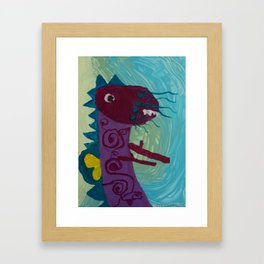Dragon : Funny creature Series Framed Art Print