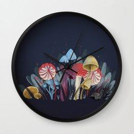 Wild Mushrooms Wall Clock