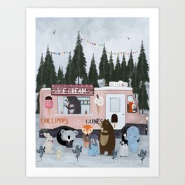 ice cream time Art Print