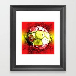 football  spain Framed Art Print