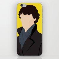 sherlock iPhone & iPod Skins featuring Sherlock by Jessica Slater Design & Illustration