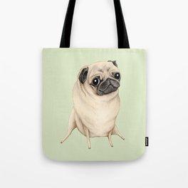 Sweet Fawn Pug Tote Bag