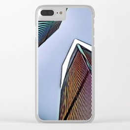 Twin Towers - 9/07/01 - Graphic 4 Clear iPhone Case