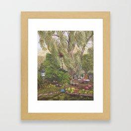 Faerie Garden Letters Framed Art Print
