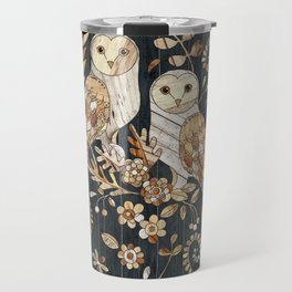 Wooden Wonderland Barn Owl Collage Travel Mug
