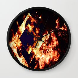 When A Fire Starts To Burn Wall Clock