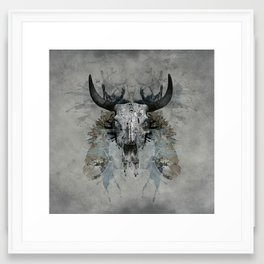 Something is squeezing my skull! Framed Art Print