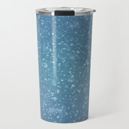Hand painted blue white watercolor brushstrokes confetti Travel Mug