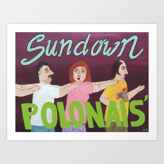 Sundown Polonaise Art Print