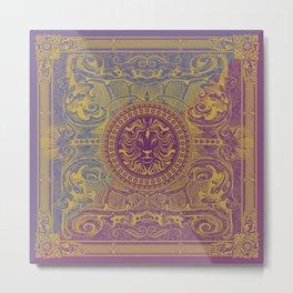 Medalion Purple Metal Print
