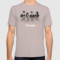 Friends SMALL Cinder Mens Fitted Tee