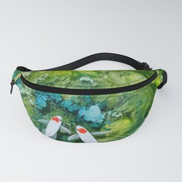Goldfish on colorful background Fanny Pack